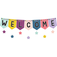 Oh Happy Day Pennants Welcome Bulletin Board