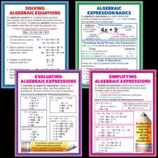 Algebraic Expressions & Equations Poster Set