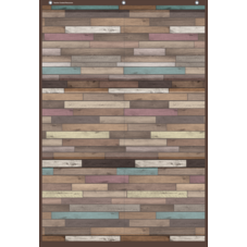 Reclaimed Wood Large 6 Pocket Chart