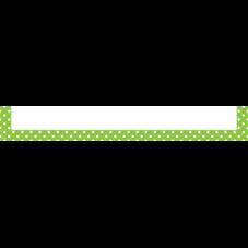 Lime Polka Dots Magnetic Pockets - Large