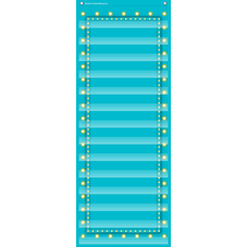 Light Blue Marquee 14 Pocket Chart
