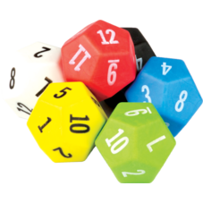 12 Sided Dice 6-Pack
