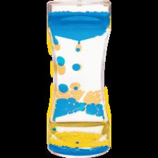 Blue & Yellow Liquid Motion Bubbler