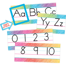 Colorful Scribble Alphabet Line Bulletin Board