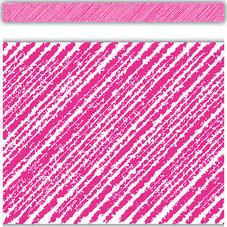 Hot Pink Scribble Straight Border Trim