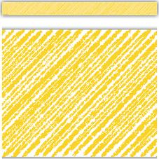 Yellow Scribble Straight Border Trim