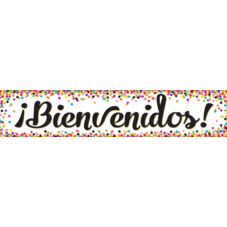 Confetti Bienvenidos Banner