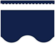 Navy Scalloped Border Trim