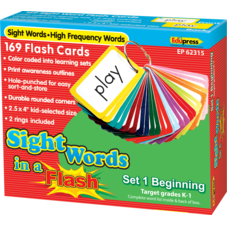 Sight Words in a Flash Cards Grades K-1