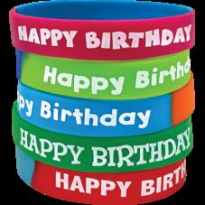 Fancy Happy Birthday Wristbands