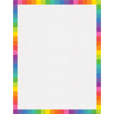 Colorful Blank Write-On/Wipe-Off Chart