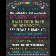 Chalkboard Brights Classroom Rules Chart