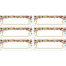 Confetti Labels Magnetic Accents