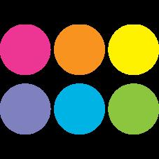 "Spot On Carpet Markers Bright Circles  - 4"""