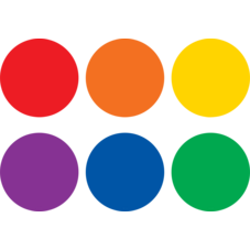 """Spot On Carpet Markers Colorful Circles - 4"""""""