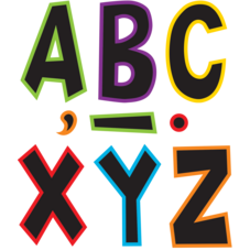 """Electric Bright 7"""" Fun Font Letters"""