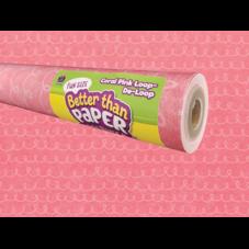 Fun Size Coral Pink Loop-De-Loop Better Than Paper Bulletin Board Roll