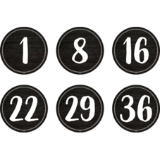 """Spot On Floor Markers Modern Farmhouse Numbers 1-36 - 4"""""""