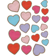 Home Sweet Classroom Hearts Accents - Assorted Sizes