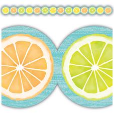 Lemon Zest Citrus Slices Die-Cut Border Trim