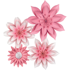 Pink Blossoms Paper Flowers