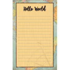 Travel the Map Notepad
