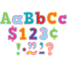 """Colorful Vibes Bold Block 4"""" Letters Combo Pack"""