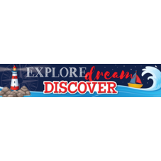 Nautical Explore, Dream, Discover Banner