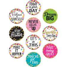 Confetti Positive Sayings Accents