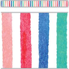 Watercolor Stripes Straight Border Trim