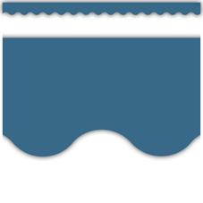 Slate Blue Scalloped Border Trim