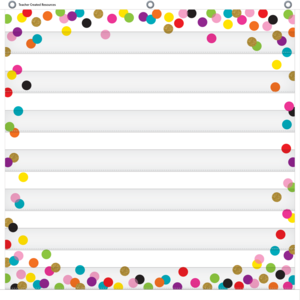 TCR20327 Confetti 7 Pocket Chart Image