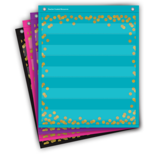 TCR20332 Confetti Colorful Magnetic Mini Pocket Charts Image
