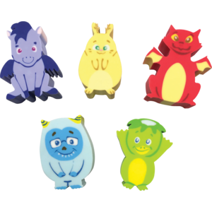 TCR20344 Whatsits Collectable Eraser Mystery Packs: Fantasy Friends - 5 Character Assortment Image