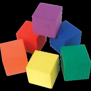 TCR20615 Foam Color Cubes Image