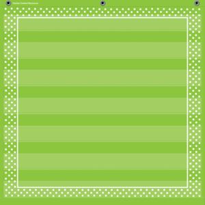 TCR20741 Lime Polka Dots 7 Pocket Chart Image