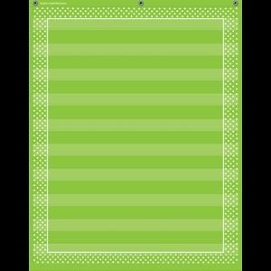 TCR20745 Lime Polka Dots 10 Pocket Chart Image
