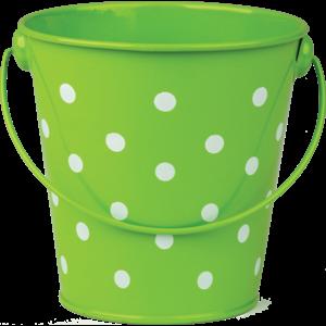 TCR20824 Lime Polka Dots Bucket Image