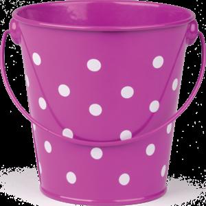 TCR20826 Purple Polka Dots Bucket Image