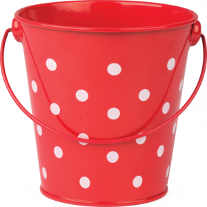 TCR20827 Red Polka Dots Bucket Image