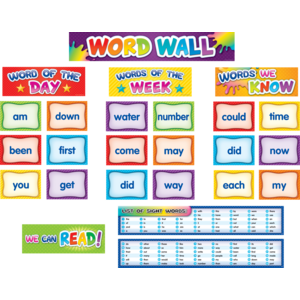 TCR20845 First 100 Sight Words Pocket Chart Cards Pre K-2 Image
