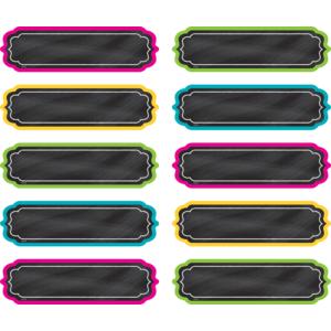 TCR20871 Chalkboard Brights Labels Image