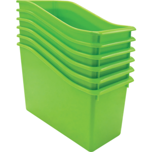 TCR2088557 Lime Plastic Book Bin 6 Pack Image