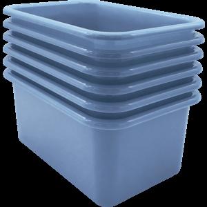 TCR2088583 Slate Blue Small Plastic Storage Bin 6 Pack Image