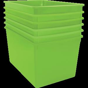TCR2088611 Lime Plastic Multi-Purpose Bin 6 Pack Image