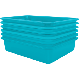 TCR2088617 Teal Large Plastic Letter Tray 6 Pack Image