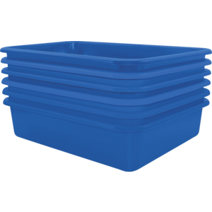 TCR2088619 Blue Large Plastic Letter Tray 6 Pack Image