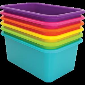 TCR2088640 Brights Small Plastic Storage Bins Set of 6 Image