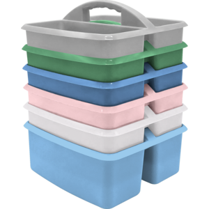 TCR2088643 Soft Colors Plastic Storage Caddies Set of 6 Image