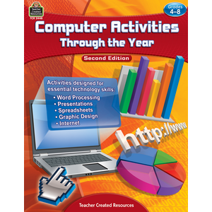 TCR2448 Computer Activities Through the Year Grade 4-8 Image